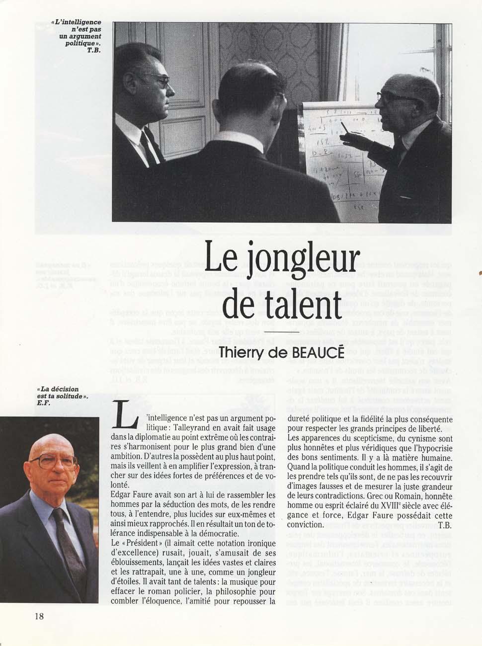 Le jongleur de talent (Thierry de Beaucé)