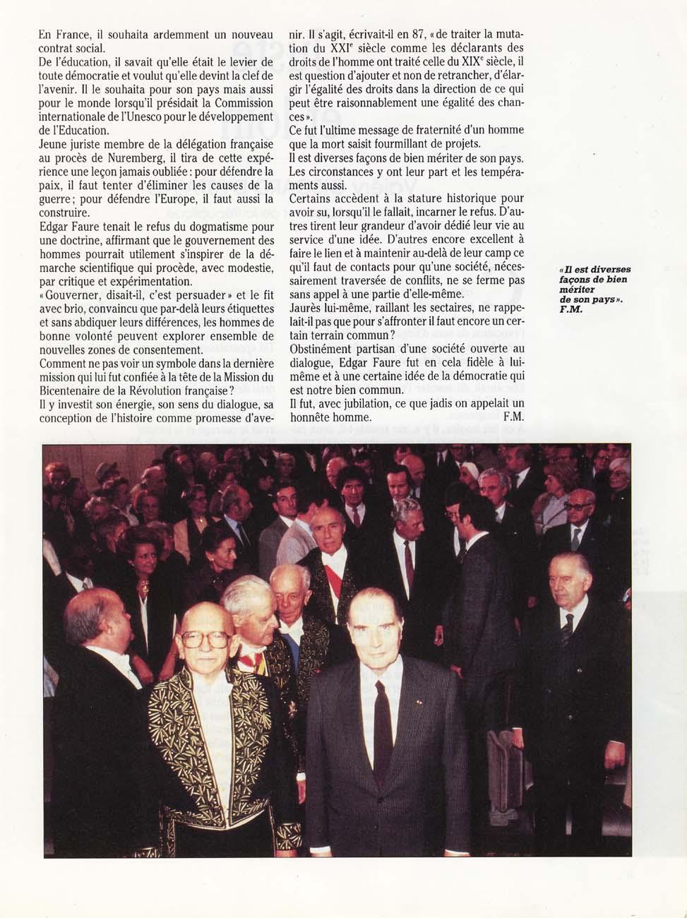 L'éthique du dialogue (François Mitterrand)