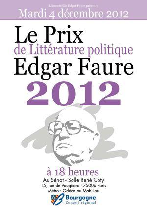 Brochure prix edgar faure 2012