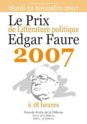 Affiche prix edgar faure 2007