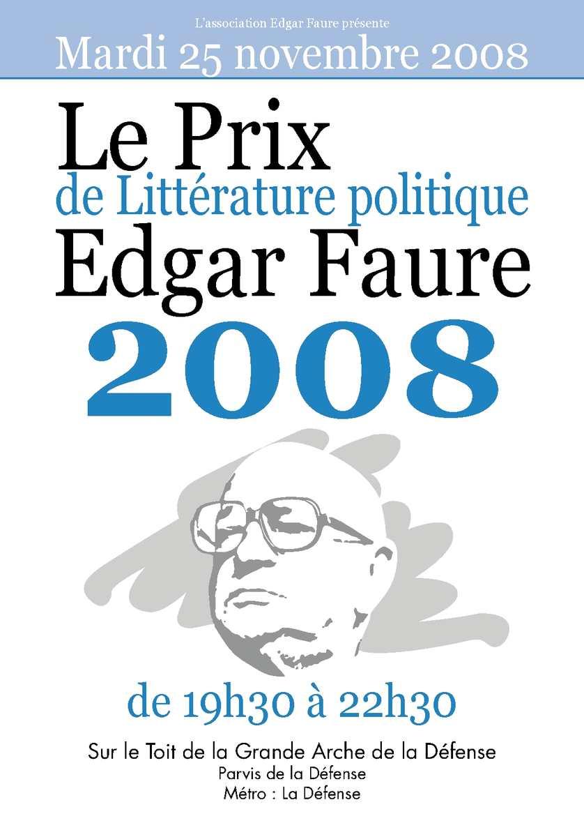 affiche prix edgar faure 2008