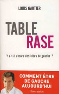 Livre TABLE RASE - Par LOUIS GAUTIER