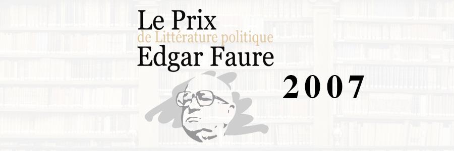 prix edgar faure 2007
