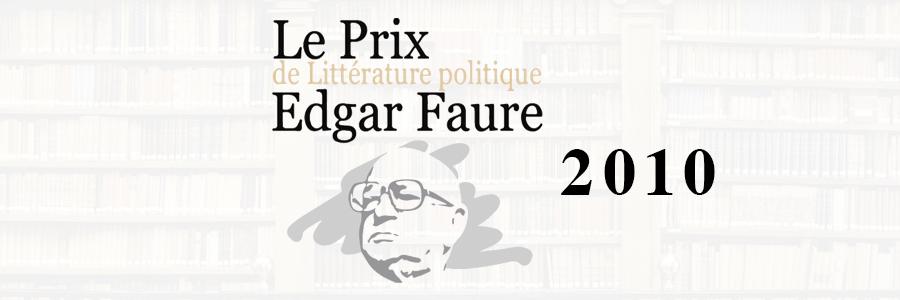 prix edgar faure 2010