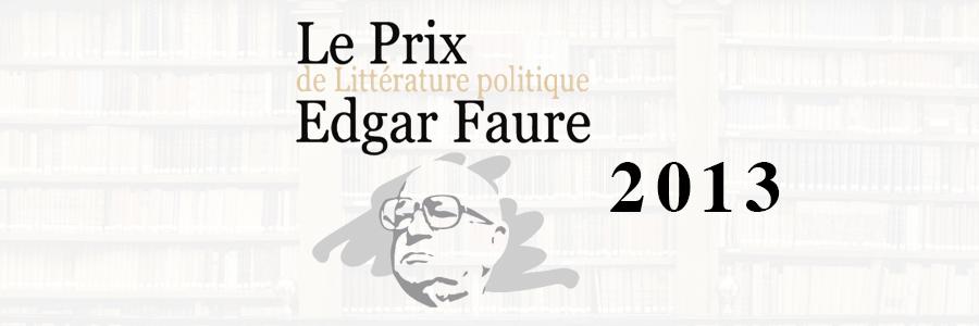 prix edgar faure 2013