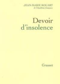 DEVOIR D'INSOLENCE