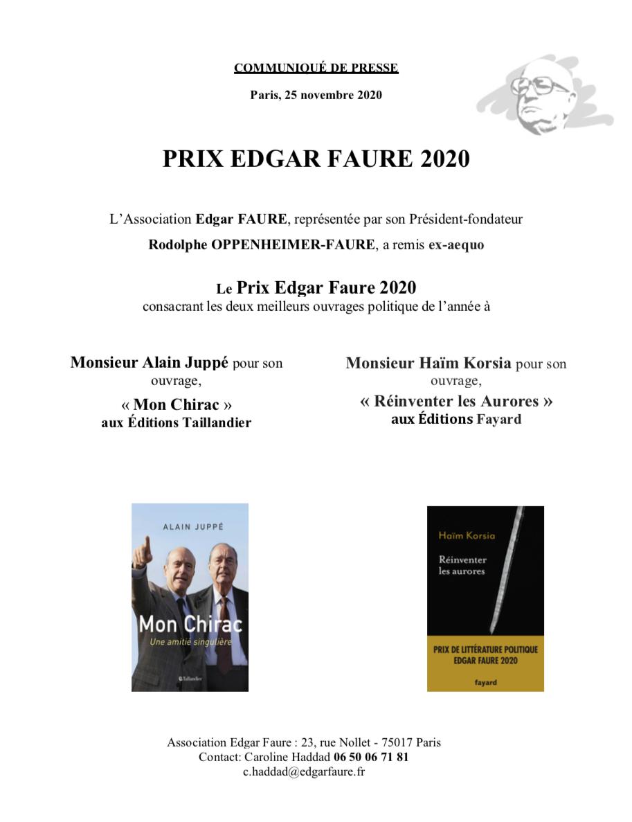 prix edgar faure 2020